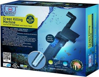 Green Killing Machine internal UV sterilizer.